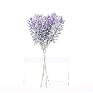 lipiny Artificial Flowers Lavender Bouquet in Purple Artificial Plant for Home Decor, Wedding,Garden,Patio Decoration,5 Pcs Per Bundle 3