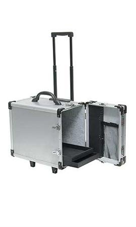 12 Tray Aluminum Rolling Jewelry Cases - STOR-55388 by Miller Supply Inc