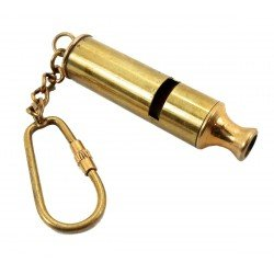 Nautical Solid Brass WHISTLE Key Chain from Brass Blessing - Names Eyeglasses Parts Of