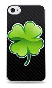 Four Leaf Clover Apple iPhone 5C White Silicone Case - Lucky Irish Shamrock 803