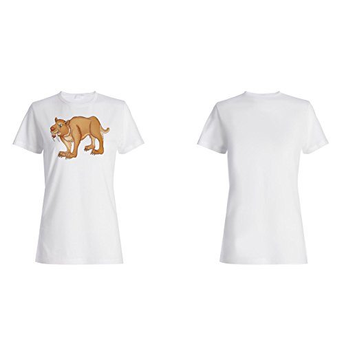 Sabretooth cartoon lustige animation Damen T-shirt g770f