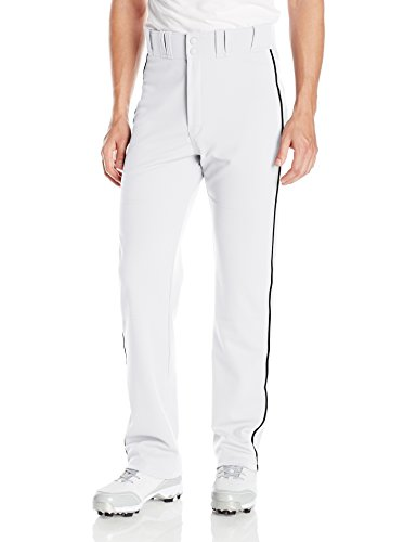 EASTON RIVAL 2 Baseball Softball Pant | Adult | Small | White Black | 2020 | Double Reinforced Knee | Elastic Waistband w/ 2 Color Internal Easton Logo | 2 Batting Glove Pockets | 100% Polyester