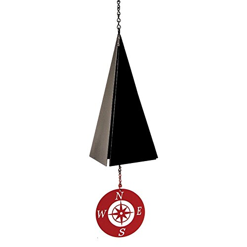 North Country Wind Bells Pemaquid Bell with Compass Rose Red – 3 Tones Review