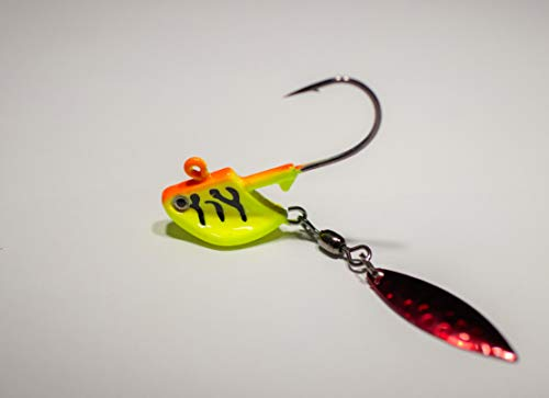 (Xstream Tackle Hot Tiger Flasher Tail jig (0.25))
