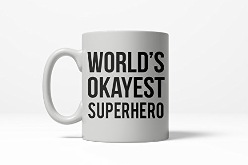 Worlds Okayest Superhero Funny Comic Nerdy Ceramic Coffee Drinking Mug 11oz Cup