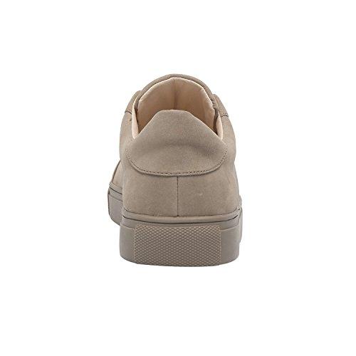 Pic / Lön Ohara | Womens Slip-on Dubbade Mocka Bekväm Mode Sneaker (ny Vår) Grå Nubuck