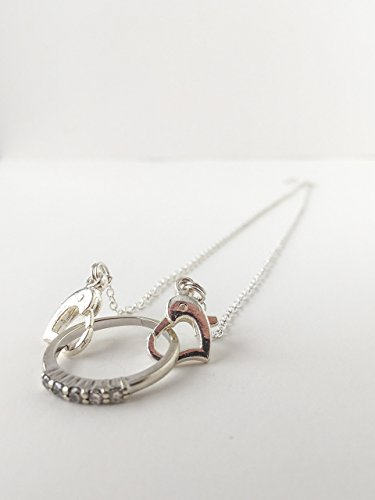Close to your Heart // Ring Holder Necklace // Wedding Ring Holder // Special Ring // Silver Heart Clasp Necklace