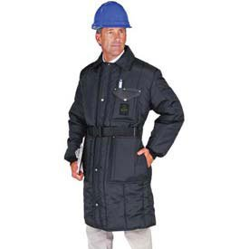 Large Navy Insulated Coat by RefrigWear