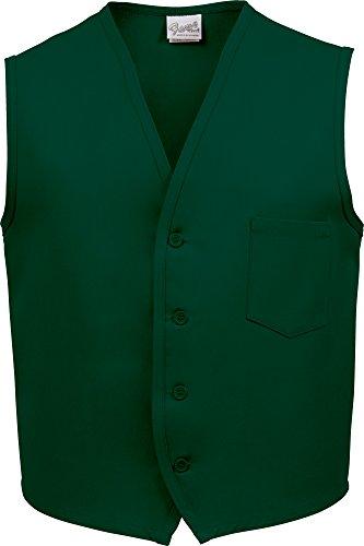 Fame Fabrics 28651 V40 Unisex Vest, Left Chest Pocket, Hunter Green, SM