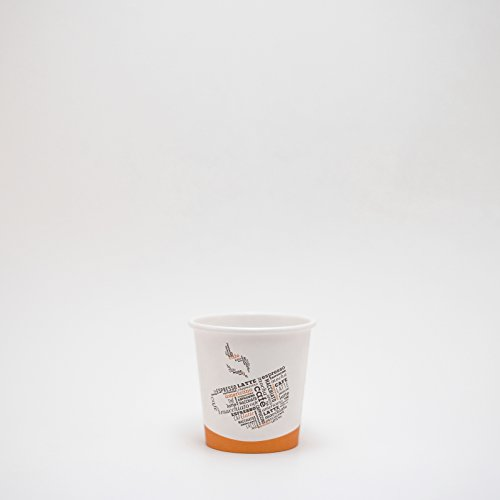 Life in Green 4oz Single-Sided Poly Disposable Hot Paper Cup Mocha Design 1000 Ct Case