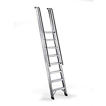 Disset Odiseo PDL0132 Escalera Profesional Fénix con Pasamanos, 11x100 mm Peldaños, 150 Kg Carga, 4070 mm Altura, 600 mm Anchura: Amazon.es: Industria, empresas y ciencia