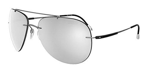 Silhouette Titanium Aviator Sunglasses Adventurer Matte Grey Mirror - Aviator Silhouette