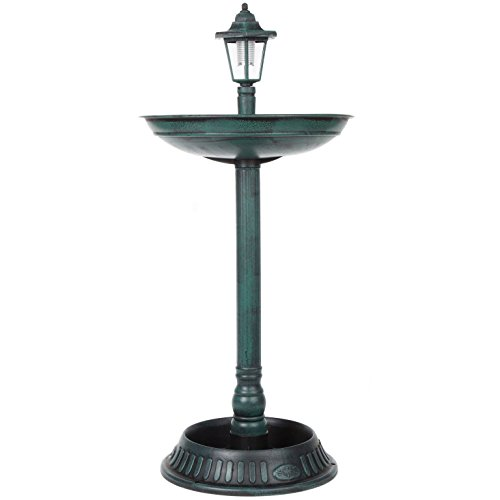 Bird Bath With Solar Light in US - 1