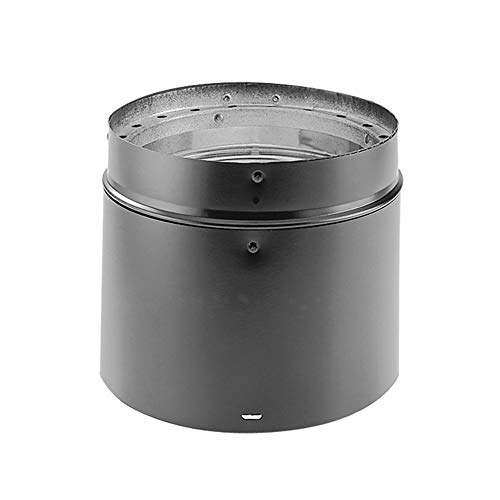 M & G Duravent 8DVL-12ADJ 8 Inch Dura-Vent DVL Adjustable 4 Inch -11 Inch Double-Wall Black Pipe
