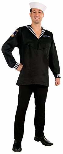 Forum Novelties Men's Deluxe High Seas Sailor Costume Top, Multi, One -