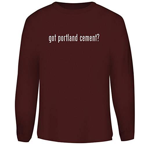 (One Legging it Around got Portland Cement? - Men's Funny Soft Adult Crewneck Sweatshirt, Maroon, XX-Large)