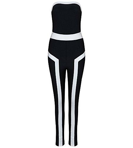 Hego Patchwork Bandage Strapless Jumpsuits product image