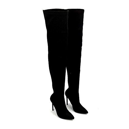 Sandales Miss Compensées Diva Femme Noir Ux15Xx