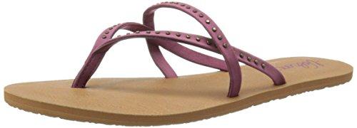 Volcom Women's All Day Long Sandal Flip Flop Burgundy