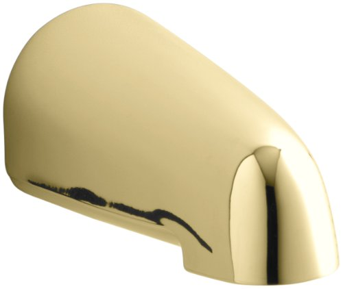Kohler K-373-PB Devonshire 4-7/16-Inch Non-Diverter Bath Spout, Vibrant Polished Brass