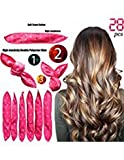 #6: Foam Hair Rollers Curler Clips No Heat For Long/Short Hair Soft Style sleep Hair Rollers Care wig cap set