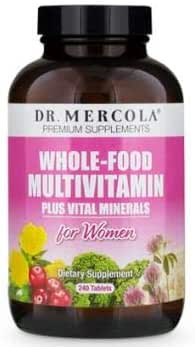 Dr. Mercola, Whole Food Multivitamin for Women Plus Vital Minerals, 30 Servings (240 Tablets), with Spirulina, Non GMO, Soy Free, Gluten Free