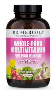 Dr. Mercola Whole Food Multivitamin for Women - 240 Tablets, 30 Day Supply - Dietary Supplement Containing More Folate & Choline for Healthy Cell Growth, Fetal Development of Brain & Nervous System*