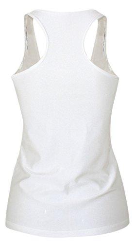 erdbeerloft–Mujer Calavera Queen Mum Print Tank Top Camiseta, tamaño S de l s de m, multicolor