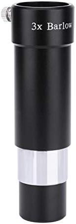 Optical Glass Metal 1.25 3X multiplier lens Achromatic ED Barlow Lens 31.7mm for Astronomical telescope Eyepiece Value-5-Star