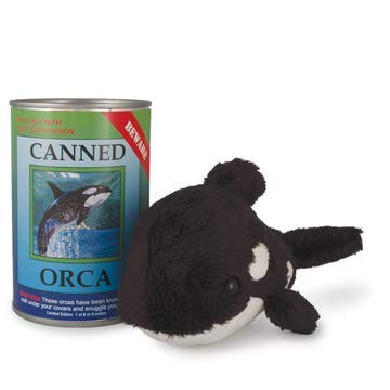 Canned Critters Stuffed Animal: Killer Whale 6