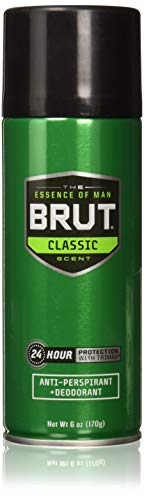 Brut Deodorant 6oz Aerosol Classic Scent(Anti-Perspirant) (6 Pack)