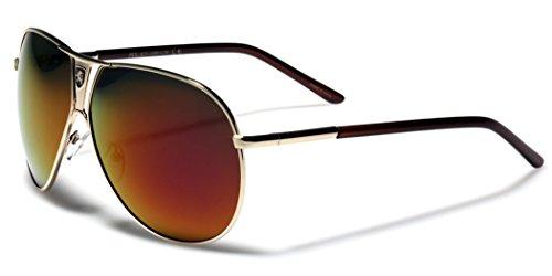 Polarized Color Mirror Lens Aviator Sunglasses Retro Pilot Cop Glasses MEDIUM-LARGE - Sunglasses Cops For Best