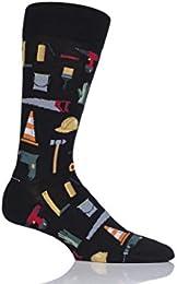 Mens 1 Pair HotSox All Over Workmens Tools Cotton Socks
