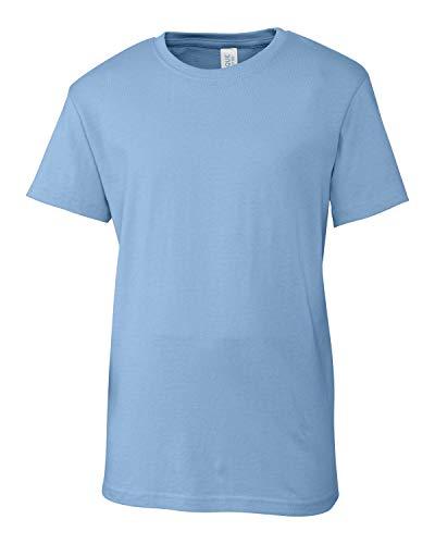 Youth Short Sleeve 100% Cotton Jersey Playlist Tee - Unisex - Girls/Boys-Light Blue-L
