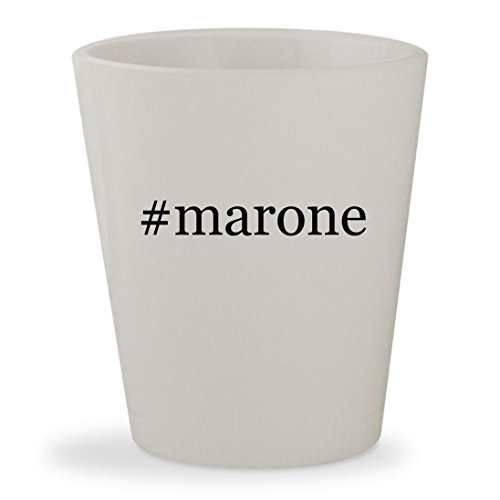 #marone - White Hashtag Ceramic 1.5oz Shot Glass (Ro Maron)