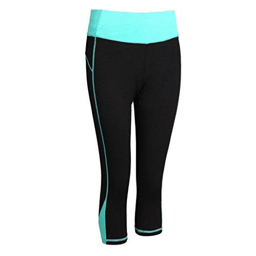 suzone de deporte para mujer Yoga Tight entrenamiento deportes Leggings azul