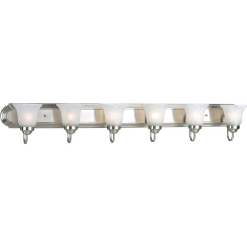 Progress Lighting P3056-09 6-Light Bath Bracket, Brushed Nickel - Bracket Bathroom Light