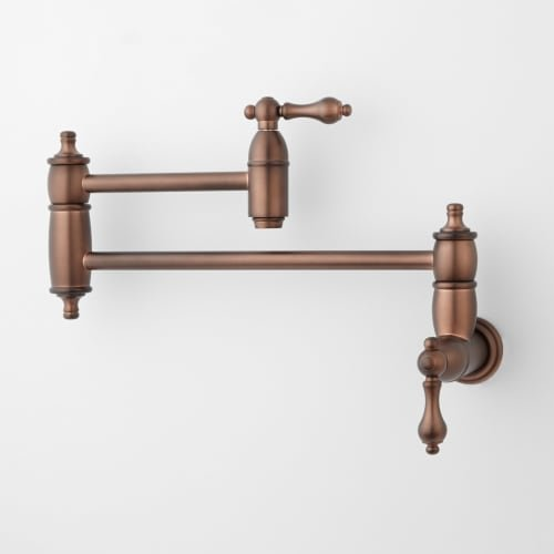 406303 Augusta Double Handle Wall Mounted Pot Filler