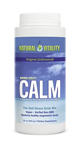 Natural Vitality Calm, The Anti-Stress Dietary Supplement Powder, Original - 16 ounce ()