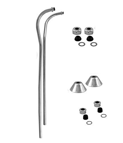Supply Offset Bath Finish - Westbrass D136-26 Double Offset Bath Supply, Polished Chrome