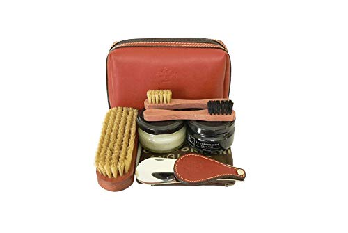 La Cordonnerie Anglaise Luxury Shoe Care Kit -Leather Travel Case - Clipper Made in France