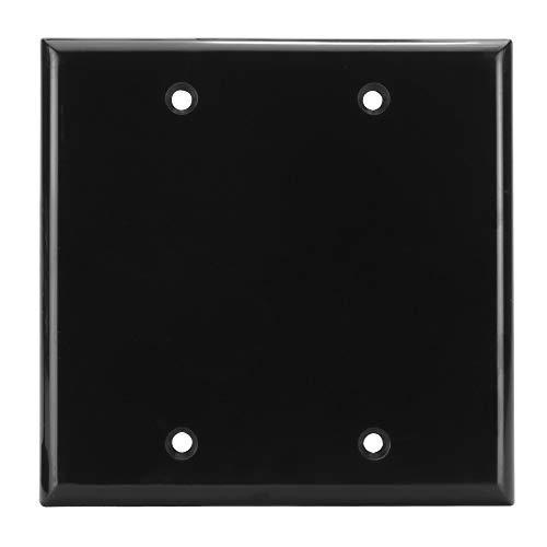 (Skywalker Signature Series Dual Gang Blank Wall Plate, Black)