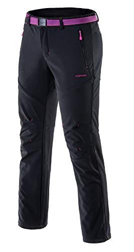 Femme Pantalon Softshell Ultra Thermique Étanche Hiver Automne Coupe-Vent Résistant Respirant Sport Randonnée Camping Running Ski Fille