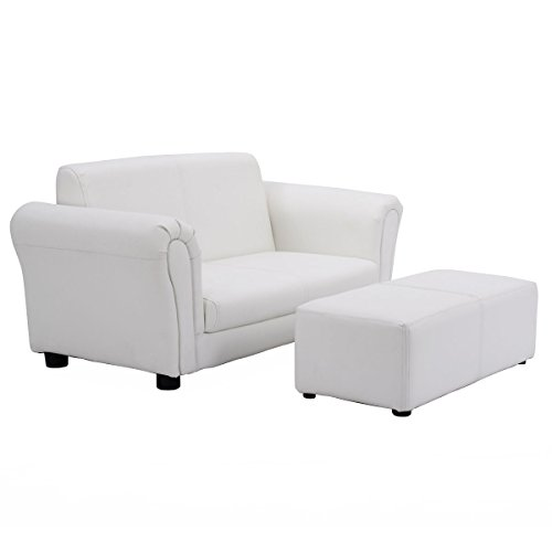 Kids Sofa Armrest Chair Couch Lounge Children Birthday Gift with Ottoman