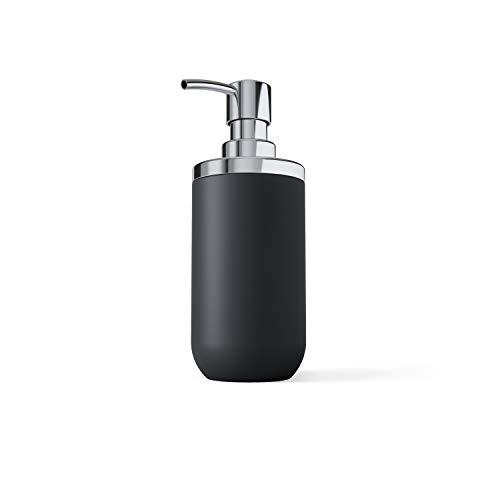 Umbra 1008027-152 Junip Hand Soap Dispenser-Modern Refillable Pump for Bathroom, Black,3 x 2 x 7 inches