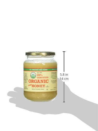 100% Certified Organic Raw Honey 1 lb (454 grams) Paste
