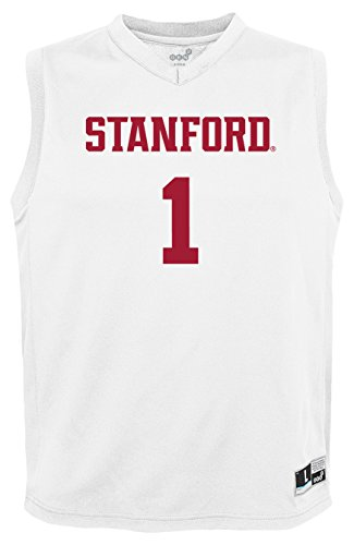NCAA by Outerstuff NCAA Stanford Cardinal Youth boys Chase Basketball Jersey, White, Youth Small(8)