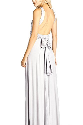 Convertible Made Solid Ami T In Maxi Long Dress USA Silver Way Multi 12 Shirt v1g5qEwqx