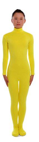 Yellow Skin Suit Child Costumes (Seeksmile Unisex Second Skin Lycra Spandex Dancewear Catsuit Bodysuit (Kids Small, Yellow))