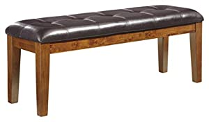 picture of Ashley Furniture Signature Design - Ralene Dining Room Bench - Rectangular - Vintage Casual - Medium Brown